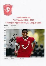 LEROY FER F.C. TWENTE 2011-2013 ORIGINAL HAND SIGNED PHOTOGRAPH