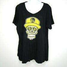 Fanatics Golden State Warriors Sugar Skull T-Shirt Day Of The Dead 2XL