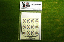 Late Roman Shield Transfers for Footsore Miniatures Little Big Men LIRC(FM)1