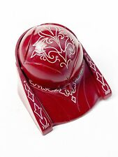 Antique Red Dome Plastic Jewelry Ring Box