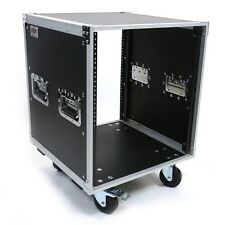 12 Space Deluxe ATA Amp / Effects Studio Rack Case w/Wheels