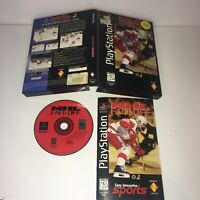 NHL FaceOff PS1 Complete & Tested CIB Long Box (Sony PlayStation 1, 1995)