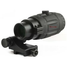 Vector Optics Tactical 3x Red Dot Sights Magnifier Scope w/ Quick Flip FTS Mount