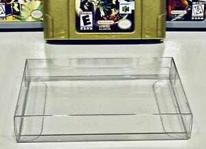 25 N64 CARTRIDGE PROTECTORS Custom Made  Clear Box / Sleeves Case Nintendo 64