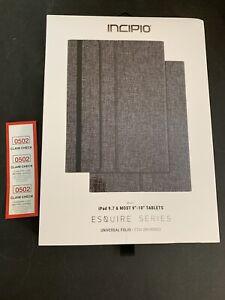 Incipio Esquire Series Folio Case for Apple iPad 9.7-inch (2017) - Gray