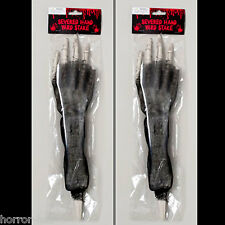2-Pcs Skeleton Arm Body Parts BLOODY HORROR HAND LAWN STAKES SET Prop Decoration