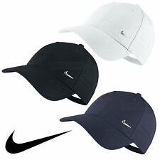 Nike Swoosh Logo Cap Running Golf Baseball Hat Black Navy White Mens Womens New