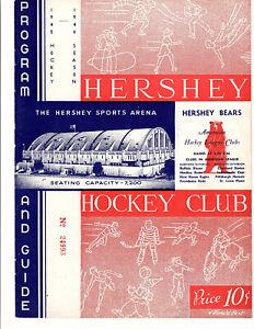 1945-1946 Vintage Hershey Bears Program