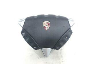 2008-2010 Porsche Cayenne S Steering wheel safety bag w/controllers 7L880201 OEM