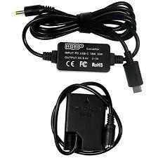 HQRP USB-C DC Converter fits Nikon Digital Camera, EP-5A EN-EL14 AC Adapter Cord