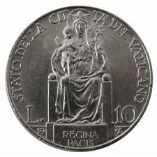 1936 Stadt der Vatikan Münze Lire 10 Papst Pius Xi Silber MF60046