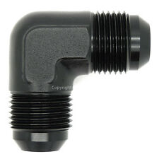 AN-3 BLACK JIC 90 DEGREE MALE FORGED ELBOW Coupler Fuel Oil Hose Fitting Adapter