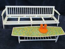 1963 - Barbie - vintage Go Together Furniture 0408 - Sofa Bed , Coffee Table etc