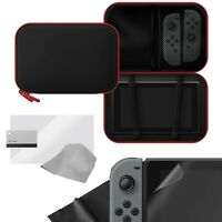 Hard Shell EVA Carry Case with Screen Protector Pack for Nintendo Switch