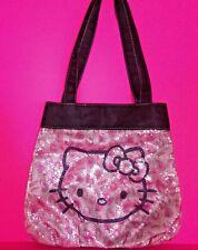 😻 Hello Kitty Small Tote Bag Shoulder Bag Purse Pink Sequins Animal Print 11x11