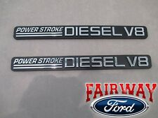 01 thru 03 F250 F350 OEM Ford Power Stroke Diesel V8 7.3L Door Emblems PAIR of 2