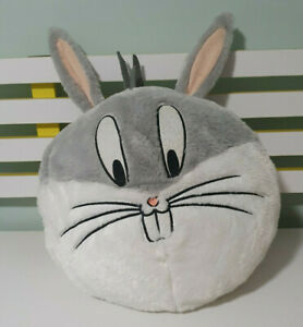 BUGS BUNNY PLUSH TOY MOVIE WORLD BIG HEAD CHARACTER TOY 30CM WIDE LOONEY TUNES