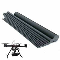 Carbon Stäbe 1-18mm CFK Fiber Rods Kohlefaser Rundstab 10-50cm Stab GE