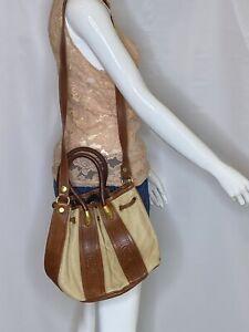 marino orlandi brown/Cream bagItalian Leather