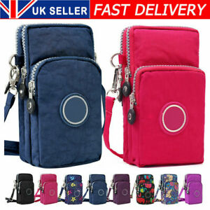 Cross-body Mobile Phone Shoulder Bag Pouch Case Belt Handbag Purse Wallet