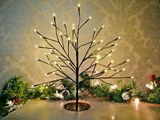 45cm Pre Lit Black Twig Tree Warm White LED Christmas Xmas Indoor Festive Decor