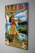 Blechschild Weltenbummler ALOHA Hawaii