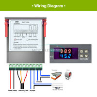 Digital Dual Display Thermostat Temperature Controller DS18B20 DST1020 DC 12-72V