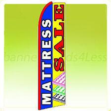 Swooper Feather Flutter Banner Tall Sign Flag - MATTRESS SALE blue q