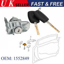 1552849 Front Door Lock Cylinder Repair W/ 2 Keys For Ford Focus C-Max S-Max UK