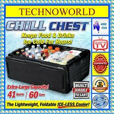 CHILL CHEST LIGHTWEIGHT  ICE-FREE COOLER+KEEPS FOOD & DRINK HOT/COLD+FOLDABLE