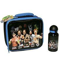 WWE Wrestling Lunch Bag & Aluminium Sports Drinks Bottle