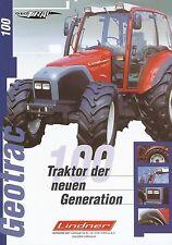 Lindner Geotrac 100 Prospekt 2001 3/01 Traktor Trecker brochure prospectus