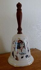 Gorham Fine China Norman Rockwell Love'S Harmony 1975 Bell 9 inch
