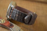 MA WATCH STRAP 26 24 22 MM GENUINE LEATHER F. PANERAI VINTAGE DESTROYER II BROWN