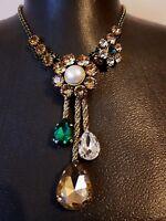 Vintage original Alcozer J necklace Signed Rare