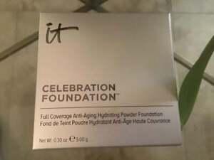 IT Cosmetics Celebration Foundation Anti-Aging Powder MEDIUM TAN - Boxed.