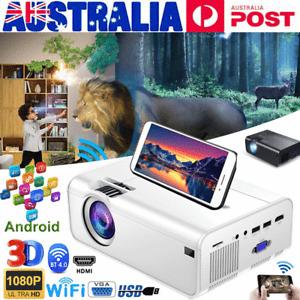 HD 1080P Mini Wifi Bluetooth LED Movie Projector Andriod Home Theatre HDMI USB
