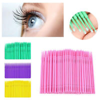 New 100/200Pcs Mini Swab Disposable Micro brush Applicators Eyelash Extensions--
