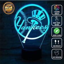 YANKEES NY BASEBALL 3D Acrylic LED 7 Colour Night Light Touch Table Lamp