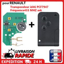 Carte clé vierge + électronique pour Renault Mégane 2 Scénic 2 Clio 3 3 boutons