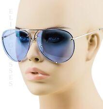 Poshe Aviator Sunglasses Vintage Lens Men Women Fashion Frame Retro Ocean Blue