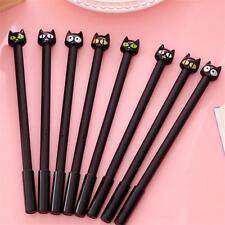 4PCS Kawaii Cute Office School Supplies Stationery Black Cat Gel Ink Pen 0.5mm
