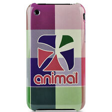 Animal Tech Cuadros Carcasa Funda Rígida Para IPHONE 3GS - Fluro Rosa Nuevo