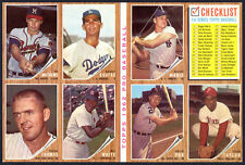 1962 Topps 8-card Advertising Sample Sheet with Sandy Koufax and Roger Maris
