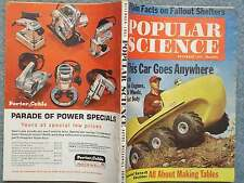 1961 POPULAR SCIENCE DECEMBER  CAR TWO ENGINES SIX WHEELS BOAT BODY  - MAKING TA