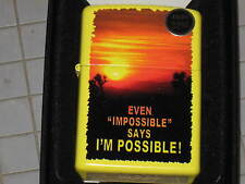 A New ZIPPO USA Windproof LIGHTER Even Impossible Says I'm Possible ! Red Sunset