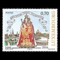 Luxembourg 2016 - Election of Virgin Mary Religion Art - MNH