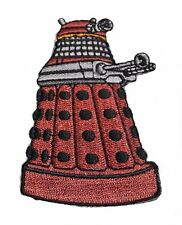 """DOCTOR WHO Red DALEK 3"""" Tall Embroidered Costume Patch"""