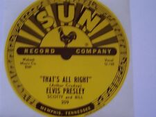 Elvis Presley 5 Sun 78 Rpm Record Labels Thats All Right #209 Lewis Perkins