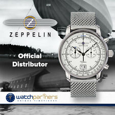 ZEPPELIN 100 YEARS 7690M-1 QUARTZ WATCH SWISS RONDA MOVEMENT 50M WR SILVER DIAL